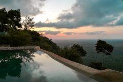 Fotoserie Kenia Sonnenuntergang Pool