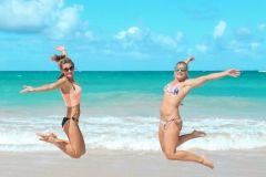 Fotoserie Hawaii Jumpfoto mit Steffi