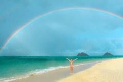 Fotoserie Hawaii Tanzen unter dem Regenbogen