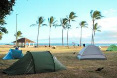 Fotoserie Hawaii Strandcampingplatz